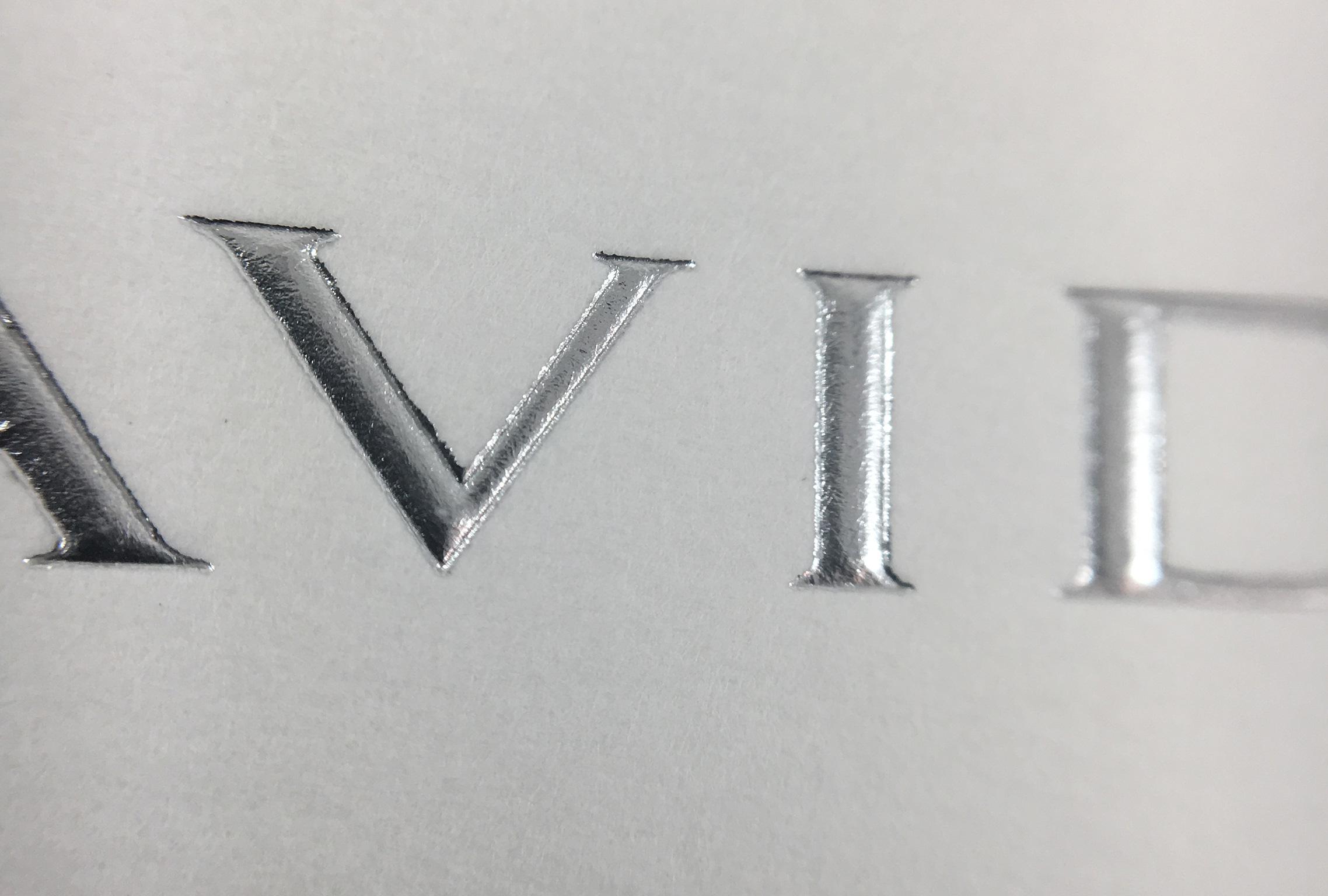 printing emboss foil print invite