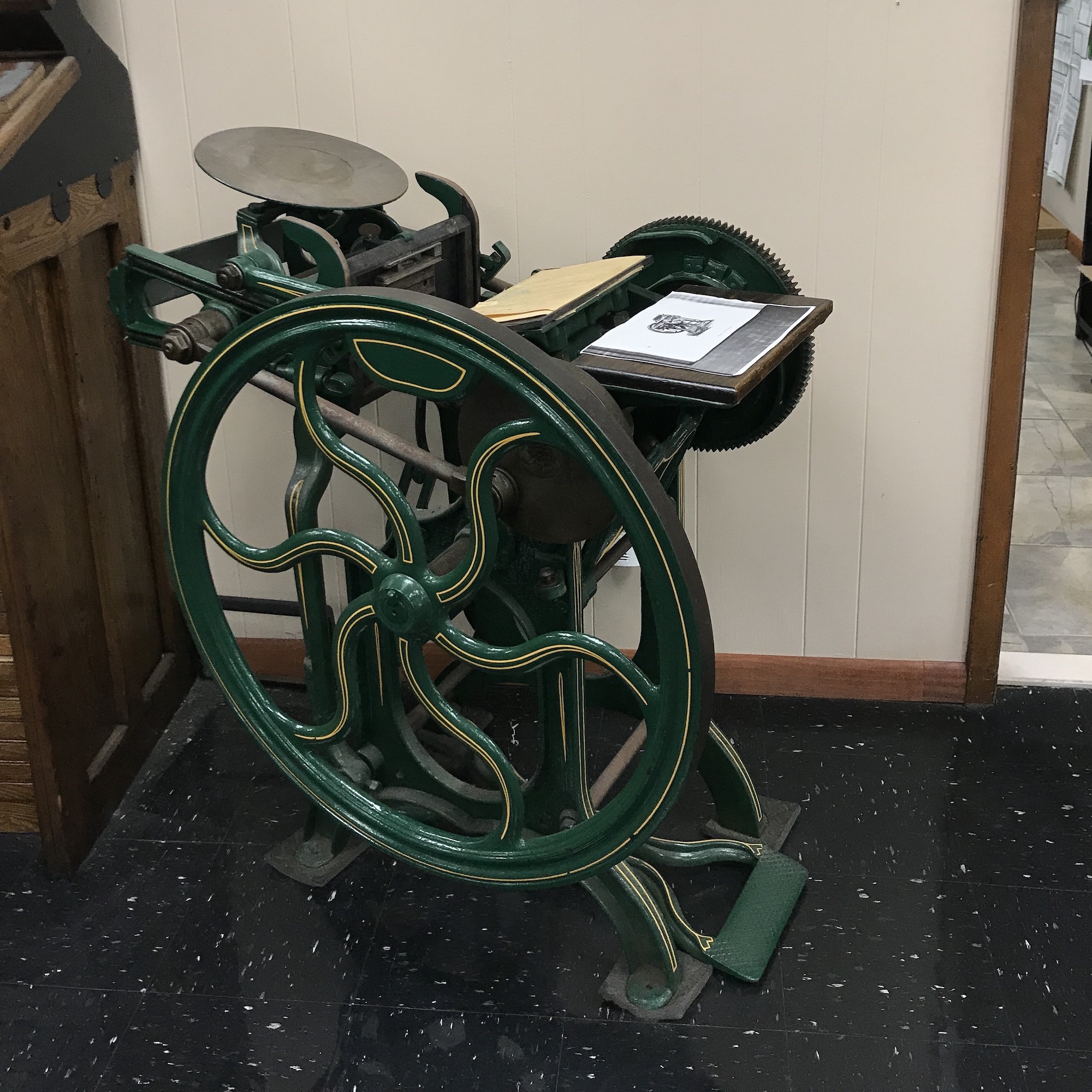 vintage book cutter from 1800s